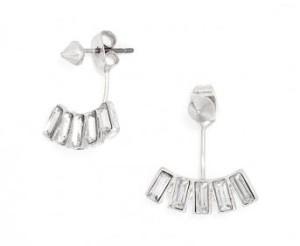 Crystal Baguette Ear Jackets