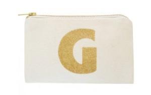 Glitter Monogram Pouch